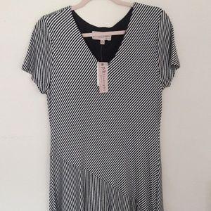 NWT Philosophy striped dress long